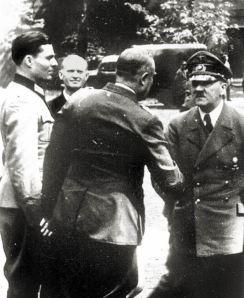 von Stauffenberg (left) with Hitler