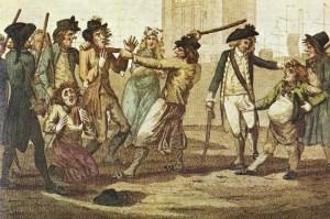 The Press-gang 'recruiting' sailors