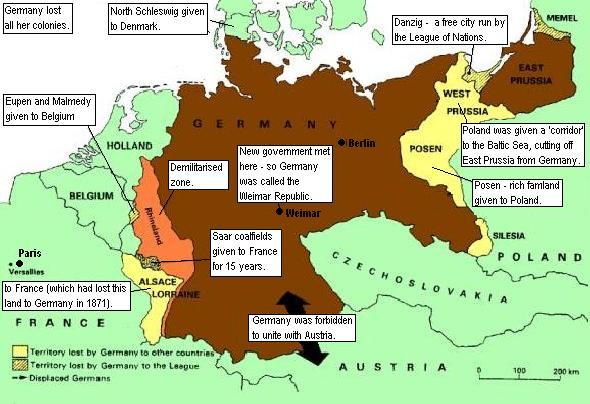 versailles treaty 1919